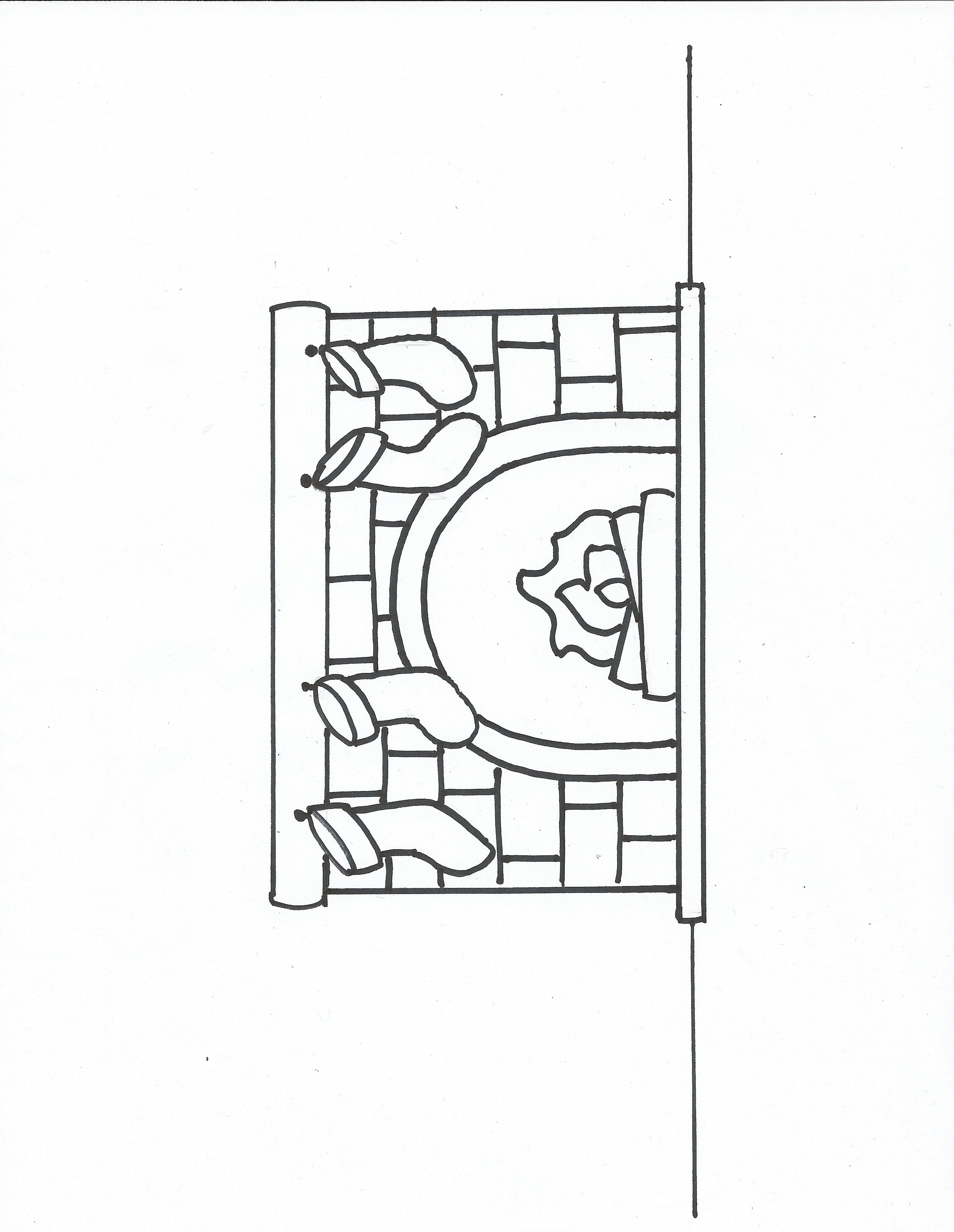 christmas coloring pages stockings fireplace coloring pages