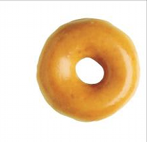 Donut at Krispy Kreme on 10/31