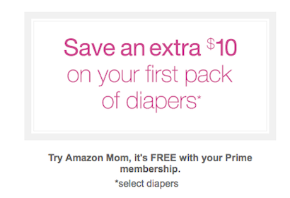 *HOT* Sign up for Amazon Mom & Save $10 Off Your First Diaper Purchase + FREE 2-Day Shipping for 3 Months!
