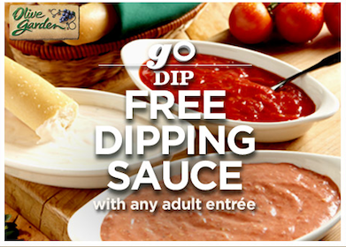 Olive Garden Coupons: FREE Specialty Coffee & FREE Dipping Sauce with Purchase