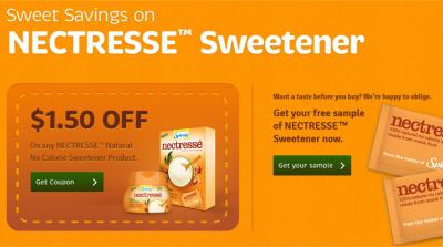 Splenda Nectresse Coupon or Sample