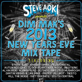 Steve Aoki Presents Dim Mak's 2013 New Year's Eve Mix Tape