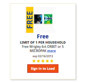 Kroger eCoupon: FREE Wrigley, Orbit or 5 Micropak Gum (Download Today Only!)