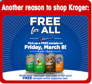 A&amp;W, 7Up, Sunkist, or Canada Dry Samples at Kroger (TODAY 4PM-8PM Only!)