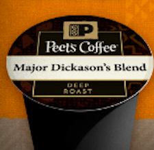 2 Peet's Coffee Single Serve K-Cups