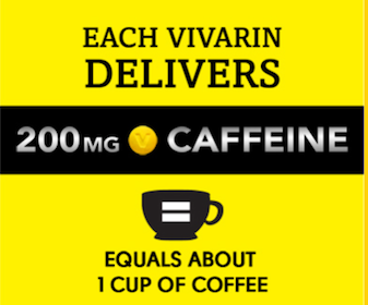 2 Vivarin Caffeine Energy Supplement Sample Packs
