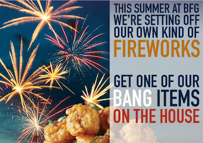 Bang Bang Shrimp, Bang Chicken or Bang Bang Tacos at Bonefish Grill