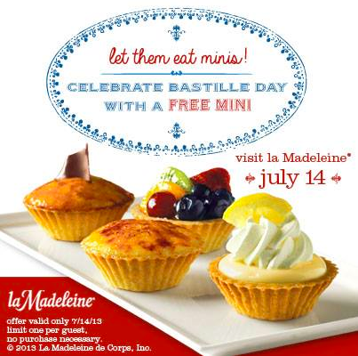 Mini Dessert at la Madeleine Country French Cafe Today