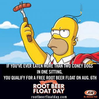 Save the Date! Free Root Beer Float on August 6 at A&W