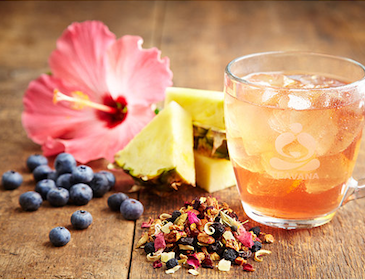 Blueberry Kona Pop Brewed Iced Tea at Teavana today