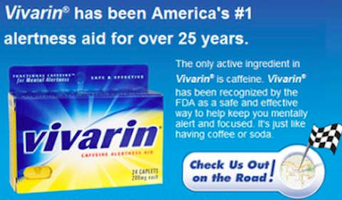 Vivarin Caffeine Alertness Aid Sample