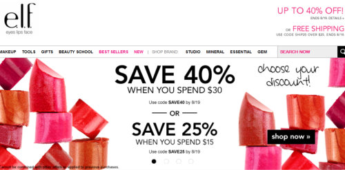 save on makeup
