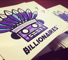 Free Billionaires Apparel Sample Stickers