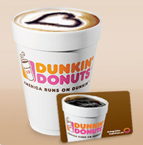 Free Medium Beverage at Dunkin Donuts