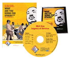 Free MLK DVD, Posters, Stickers, Bookmarks, Door Hangers