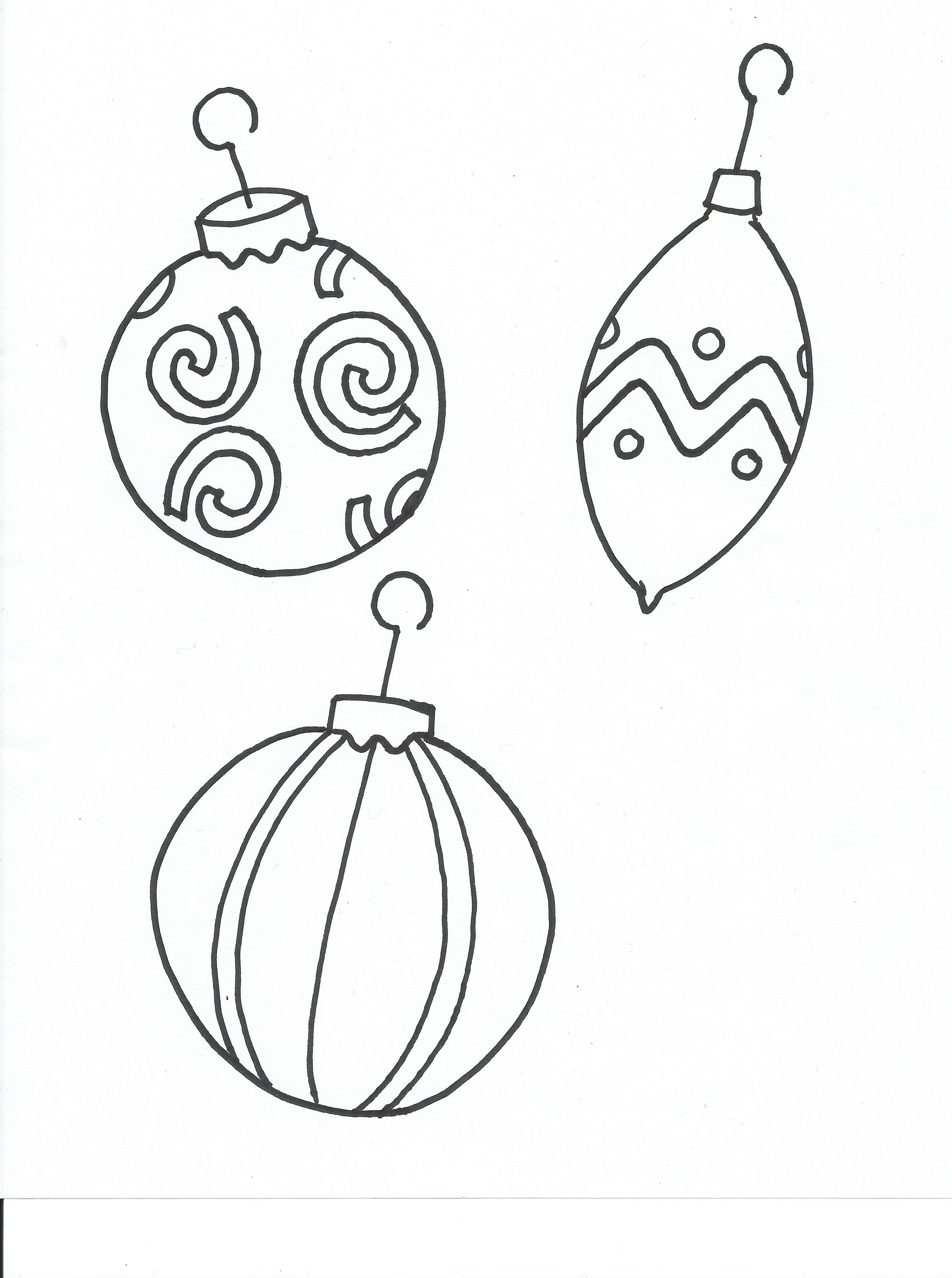 christmas ornament coloring pages - photo #47